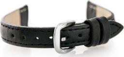 Pacific Pasek skórzany do zegarka W30 - w pudełku - czarny - 12mm uniwersalny