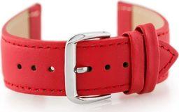 Pacific Pasek skórzany do zegarka W30 - w pudełku - czerwony - 24mm uniwersalny