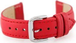 Pacific Pasek skórzany do zegarka W30 - w pudełku - czerwony - 16mm uniwersalny