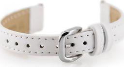 Pacific Pasek skórzany do zegarka W30 - w pudełku - biały - 12mm uniwersalny