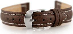 Pacific Pasek skórzany do zegarka W71 - ciemny brąz - 16mm uniwersalny