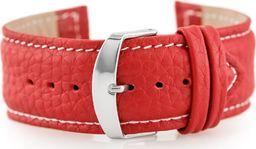 Pacific Pasek skórzany do zegarka W71 - czerwony - 24mm uniwersalny