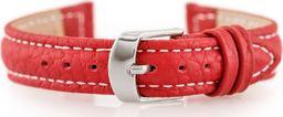 Pacific Pasek skórzany do zegarka W71 - czerwony - 12mm uniwersalny