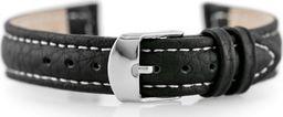 Pacific Pasek skórzany do zegarka W71 - czarny/biały - 12mm uniwersalny