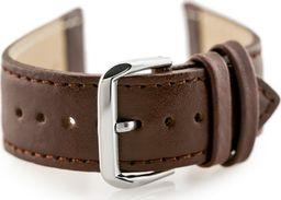 Pacific Pasek skórzany do zegarka W30 - w pudełku - brązowy - 24mm uniwersalny