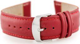 Pacific Pasek skórzany do zegarka W83 - czerwony - 24mm uniwersalny