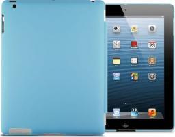 Etui do tabletu 4kom.pl Matowe etui Back Cover do Apple iPad 2 / 3 / 4 niebieskie uniwersalny