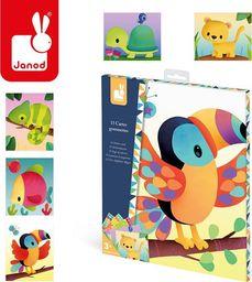 Janod Zestaw kreatywny Karty z naklejkami Zwierzęta świata  (J07788)