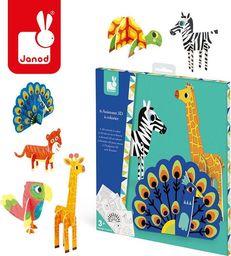 Janod Zestaw kreatywny Papierowe zwierzęta 3D