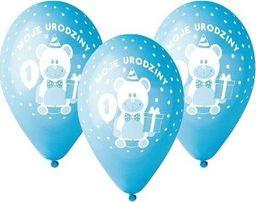 GMR Balony z nadrukiem dla chłopca Moje 1 urodziny - 30 cm - 5 szt. uniwersalny