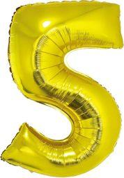 GoDan Balon foliowy cyfra 5 złota - 35 cm uniwersalny