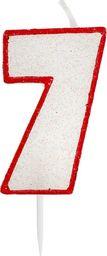 GoDan Świeczka cyferka siódemka 7 z brokatem - 1 szt. uniwersalny