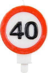 Folat Świeczka na 40-tke znak zakazu - 1 szt. uniwersalny