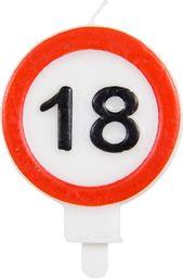 Folat Świeczka na 18-tke znak zakazu - 1 szt. uniwersalny