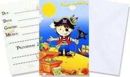 AG Firma Zaproszenia urodzinowe Mali piraci 2 - 6 szt. uniwersalny