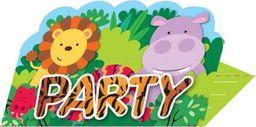 AMSCAN Zaproszenia urodzinowe Party w Dżungli - 8 szt. uniwersalny