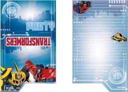 AMSCAN Zaproszenia urodzinowe Transformers - 8 szt. uniwersalny