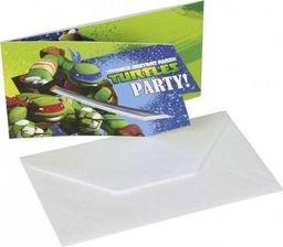 AMSCAN Zaproszenia urodzinowe Wojownicze Żółwie Ninja - 6 szt. uniwersalny