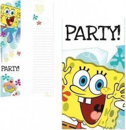 AMSCAN Zaproszenia urodzinowe Spongebob kanciastoporty - 6 szt. uniwersalny