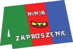 Congee.pl Zaproszenia urodzinowe Ninja - 6 szt. uniwersalny