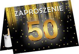 Congee.pl Zaproszenia z kopertą na 50-tke - 6 szt. uniwersalny