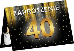 Congee.pl Zaproszenie z kopertą na 40-tke - 6 szt. uniwersalny