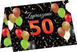 Congee.pl Zaproszenia na 50 urodziny - 6 szt. uniwersalny