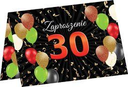 Congee.pl Zaproszenia na 30 urodziny - 6 szt. uniwersalny