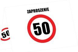 Congee.pl Zaproszenia na 50-tke znak zakazu - 6 szt. uniwersalny
