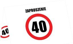 Congee.pl Zaproszenie na 40-tke znak zakazu - 6 szt. uniwersalny