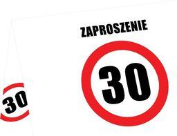 Congee.pl Zaproszenia na 30-tke znak zakazu - 6 szt. uniwersalny