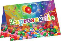 Congee.pl Zaproszenia urodzinowe kulki - 6 szt. uniwersalny