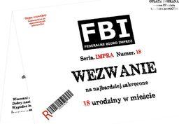 Congee.pl Zaproszenia z kopertą na 18-tke Wezwanie FBI - 6 szt. uniwersalny