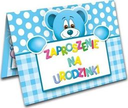 DP Craft Zaproszenie urodzinowe Miś niebieski - 1 szt. uniwersalny