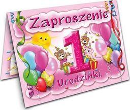 DP Craft Zaproszenie na roczek Baloniki różowe - 1 szt. uniwersalny