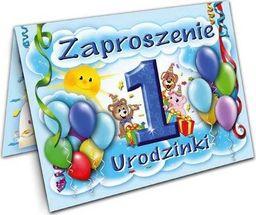 DP Craft Zaproszenie na roczek Baloniki niebieskie - 1 szt. uniwersalny