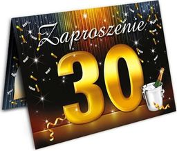 DP Craft Zaproszenie urodzinowe 30-tka - 1 szt. uniwersalny