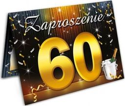 DP Craft Zaproszenie urodzinowe - 60 - sześćdziesiątka - 1 szt. uniwersalny