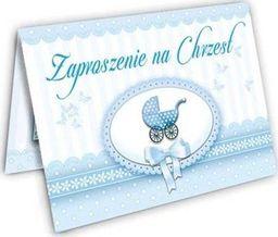 DP Craft Zaproszenie na Chrzest niebieskie - 1 szt. uniwersalny