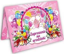 DP Craft Zaproszenie urodzinowe Torcik różowy - 1 szt. uniwersalny