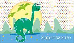 POL Zaproszenie urodzinowe Dinozaury - 1 szt. uniwersalny
