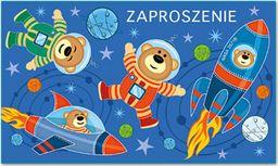 POL Zaproszenie urodzinowe Miś w kosmosie - 1 szt. uniwersalny