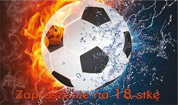 POL Zaproszenie z kopertą na 18-tkę Piłka Nożna - 1 szt. uniwersalny