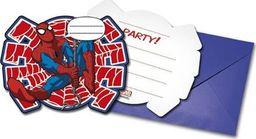 Procos2 Zaproszenia urodzinowe Spiderman - 6 szt. uniwersalny
