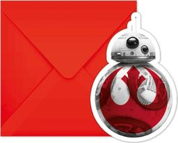 Procos2 Zaproszenia urodzinowe Star Wars - The Last Jedi - 6 szt. uniwersalny