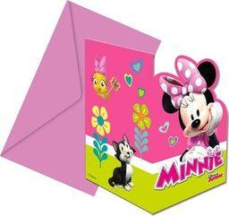 Procos2 Zaproszenia urodzinowe Myszka Minnie Serduszko - 6 szt. uniwersalny