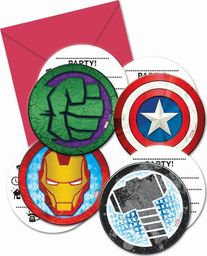 Procos2 Zaproszenia urodzinowe Mighty Avengers - 6 szt. uniwersalny