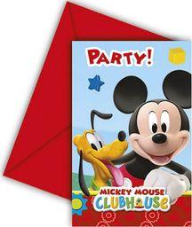 Procos2 Zaproszenia urodzinowe Myszka Mickey - 6 szt. uniwersalny