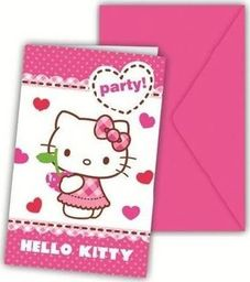 Procos2 Zaproszenia urodzinowe z kopertą - Hello Kitty - 6 szt. uniwersalny