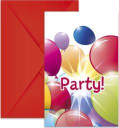 Procos2 Zaproszenia urodzinowe Baloniki - 6 szt. uniwersalny